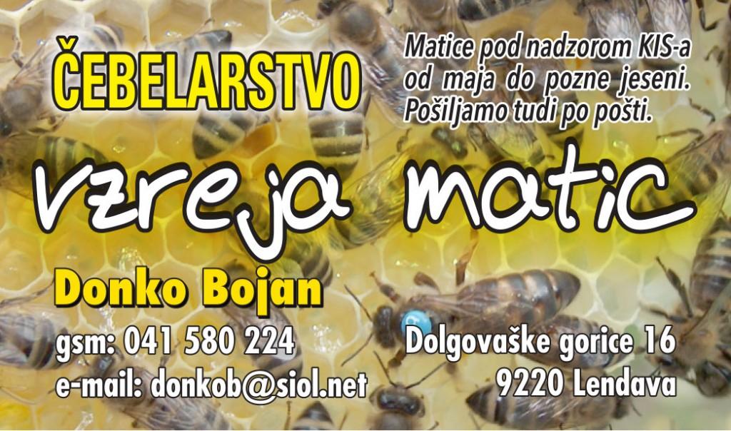 Vzreja matic - Čebelarstvo Donko