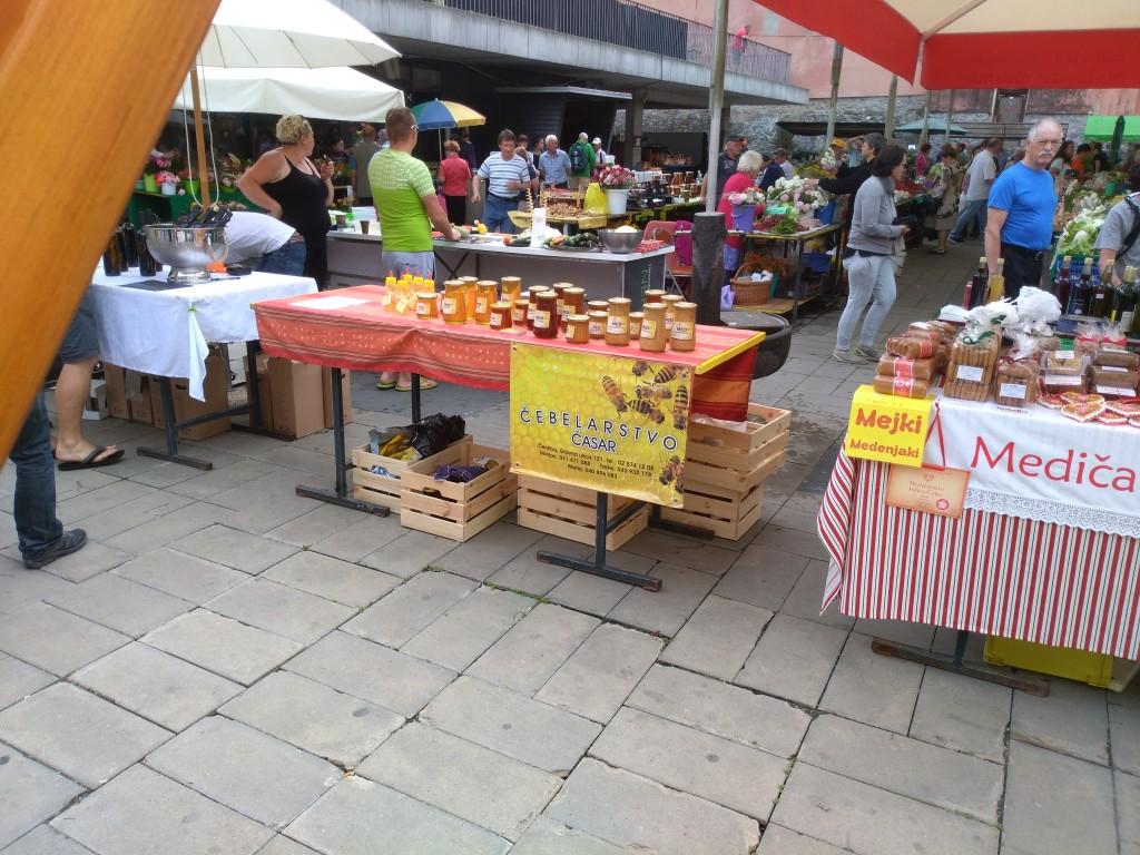 Stojnica na tržnici v Mariboru